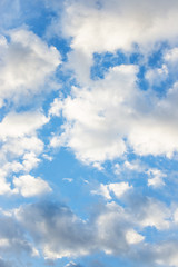close up clouds in the blue sky