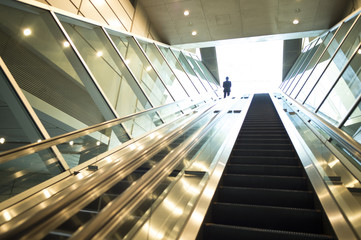 Escalator in the office building