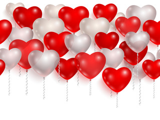 Red and white party balloons. 01