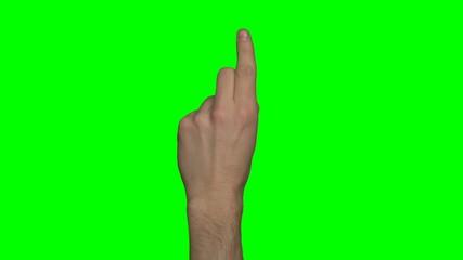 Greenscreen - Mann, linke Hand - für Erklärvideo