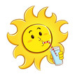 Sun drinking a glass of water