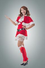 Christmas girl introduce