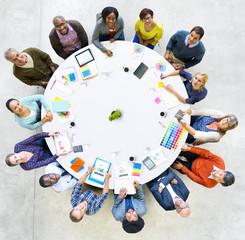 Diversity Casual People Brainstorming Meeting Teamwork Concept