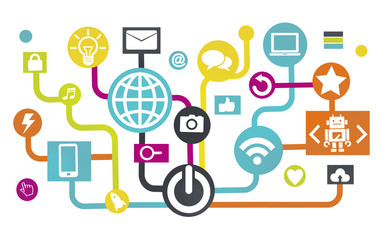 Global Communications Social Networking Connection Internet