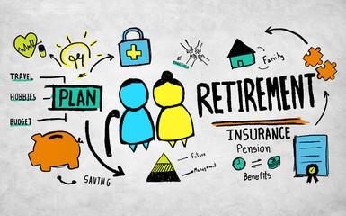 Retirement Senior Citizen Insurance Pension Management Concept