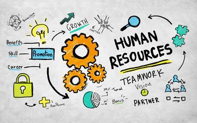Human Resources Employment Career Teamwork Partnership Concept
