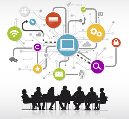 Group Business People Meeting Technology Concept