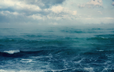 Winter floating sea