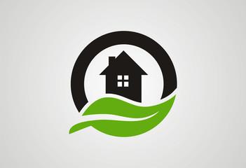 Home ecology logo vector