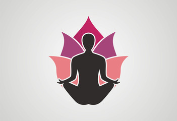 Yoga logo icon vector