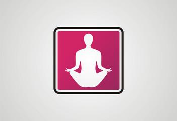 Yoga logo icon vector