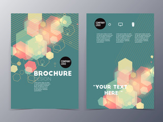 colorful graphic element style flyer template