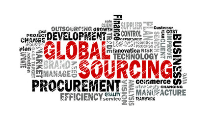 global sourcing word cloud
