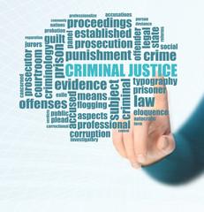Word cloud for Criminal justice