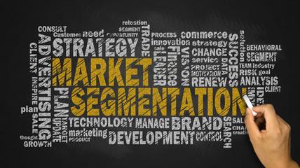 market segmentation word cloud