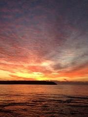 tramonto invernale a Caletta
