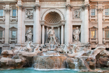 The famous Trevi fountains in Rome Italy IV.