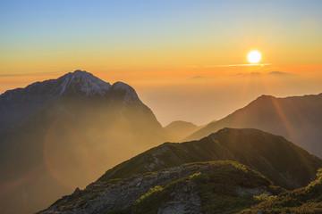 Sunrise with Mt. Kaikomagatake, Yamanashi, Japan