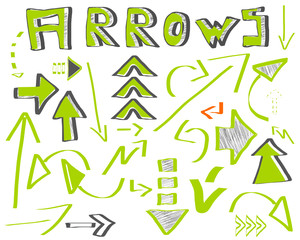 pfeile arrows set erfolg grün green