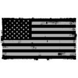 Grunge Black American Background flag