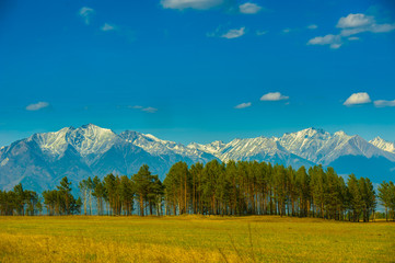 Beautiful spring landscape of the Western Sayan mountains