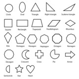 geometric shapes vector - 76037629