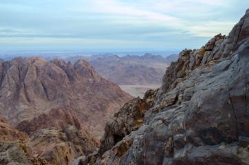 Egypt, rocky wilderness of Sinai mountains