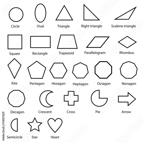 geometric shapes vector - 76037629