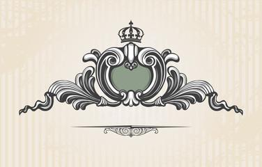 Vintage ornate shield