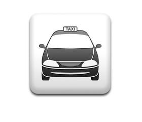 Boton cuadrado blanco taxi frontal 3D