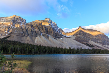 Sunrise at Bow Lake in Canadian Rockies