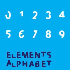 Inividual Alphabet Characters of a Custom Font - Elements Number