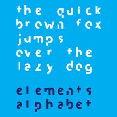 Inividual Alphabet Characters of a Custom Font - Elements Lowerc