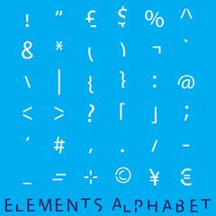 Inividual Alphabet Characters of a Custom Font - Elements Charac