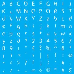 Inividual Alphabet Characters of a Custom Font - Elements