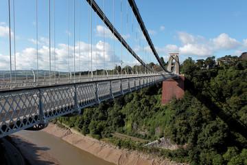 Clifton suspension bridge over the Avon Gorge in Bristol