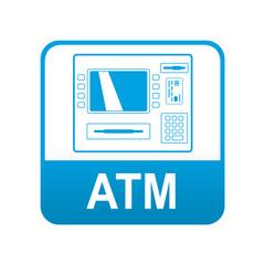 Etiqueta app abajo azul ATM