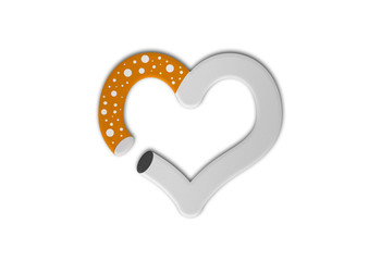 Zigarette Herz / Heart