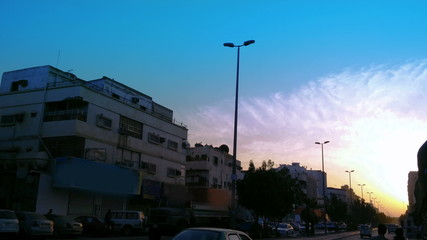 road in south jeddah at sunset