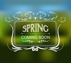 Spring coming soon typographic design