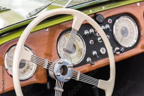 Papiers peints Vintage voitures Retro Interior Of Vintage Car