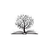 Fototapety Vector tree growing of a book