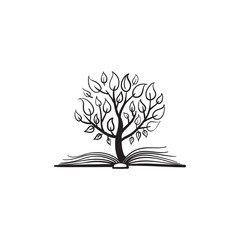 Vector tree growing of a book