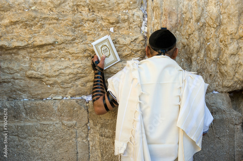 Leinwandbild Motiv Wailing wall in Jerusalem