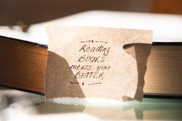 reading books make you better