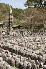 Adashinonenbutsuji Buddhist temple in Ukyo-ku, Kyoto