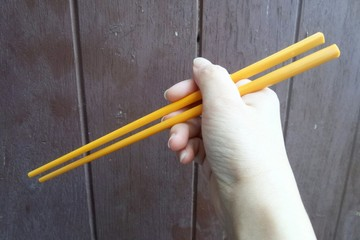 Chopsticks for clamp foods