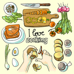 illustration of cooking
