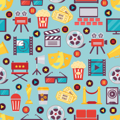 Seamless Film and Cinema Background Design