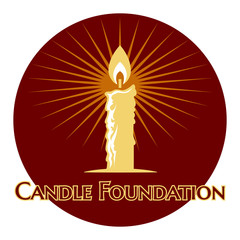Burning candle logo